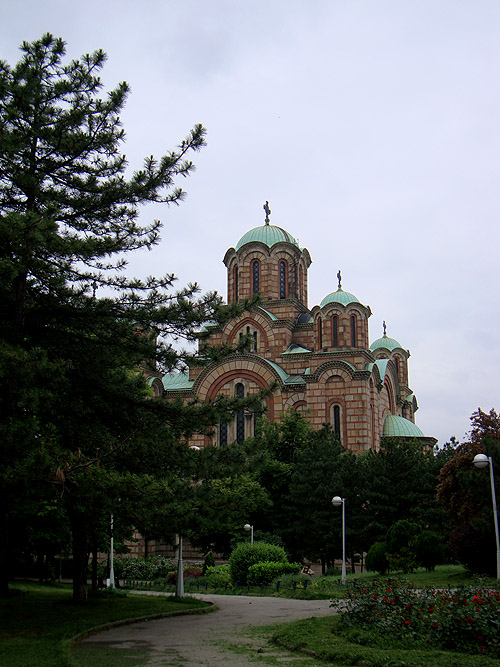 Храм Святого Марка. Вид из парка Ташмайдан