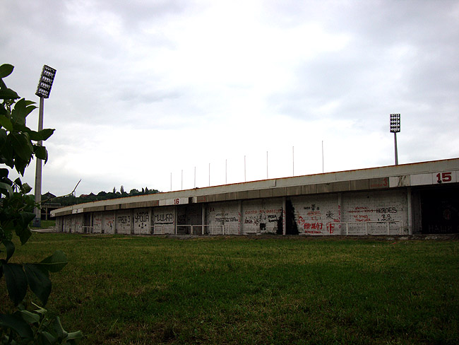 """Стадион """"Црвена Звезда"""". Со стороны бульвара Ослобожденья."""