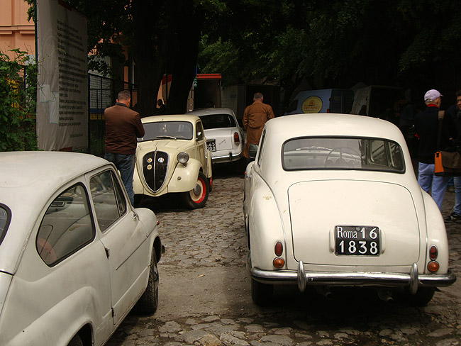 Съемка фильма в районе Косанчичева венаца. Старые автомобили