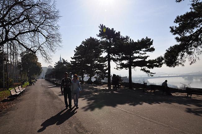 Калемегдан. Сквер со стороны Дуная