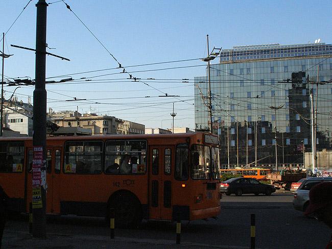 Площадь Славия. Энгельсские троллейбусы здесь можно увидеть часто