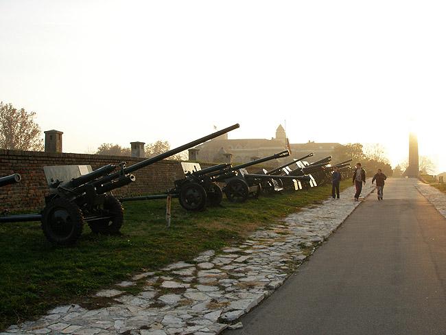 Пушки в Белградском военном музее