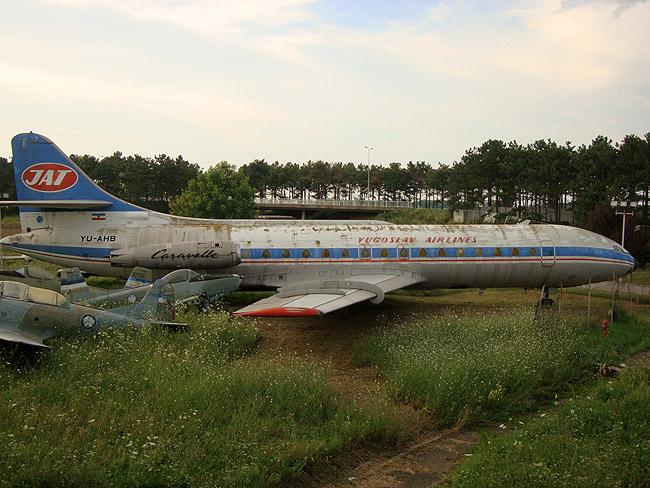Музей авиации в Белграде. Фрагмент экспозиции под открытым небом