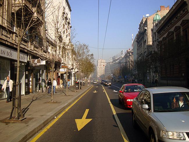 Улица Краля Милана. Ближе к Теразие