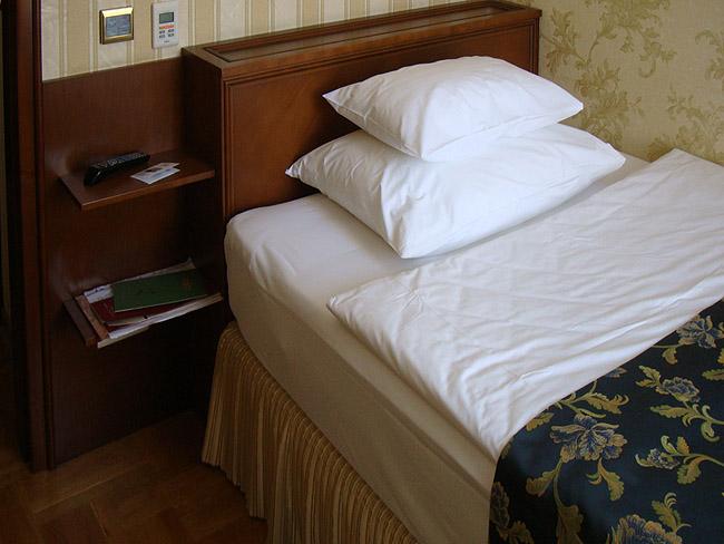 """Отель """"Москва"""" в Белграде. Высоченная кровать в одноместном номере"""