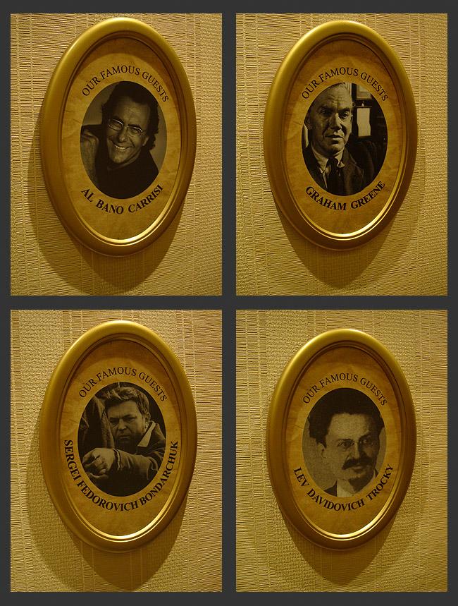 """Отель """"Москва"""" в Белграде. Портреты на стенах"""