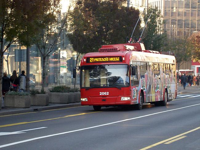 Новые троллейбусы на улицах Белграда