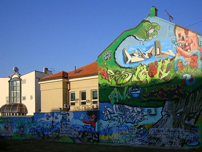 Граффити в Белграде — крупные формы
