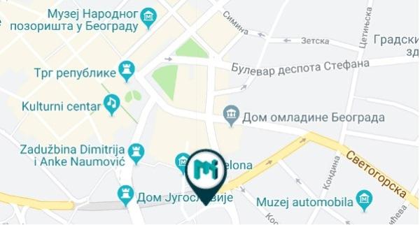 Музей иллюзий на карте Белграда